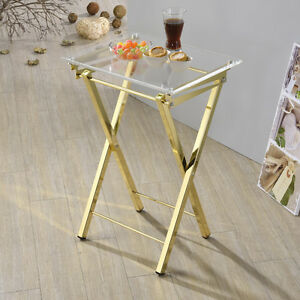 Gorgeous Designer Gold Folding TV Trays - SET OF 2