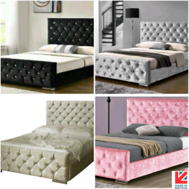 💎BED SALE💎 💚 NEW QUALITY DIAMANTE BED FRAMES 🌈ALL SIZES ANY COLOUR