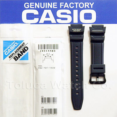 Casio 10314483 Original Factory Black Rubber Band For  Aqw101 Aqw 101 Aqw 101 1