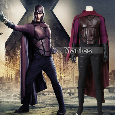 Days Of Future Past Magneto Costume (X-Men Days of Future Past Costume Magneto Erik Lensherr Cosplay Outfits)