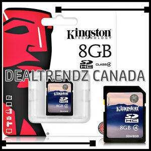 ➤➤➤ KINGSTON 8GB SD SDHC CLASS 4 MEMORY CARD NEW IN PACKAGE