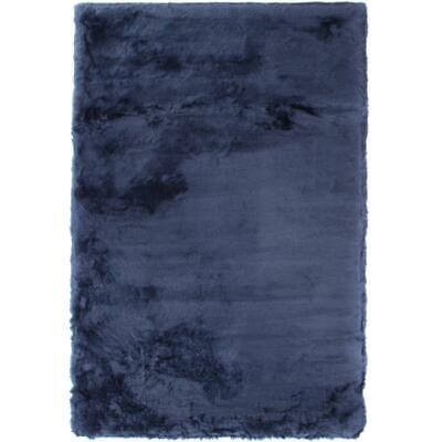 Abacasa Mink Sapphire Acrylic and Polyester Faux Fur Area Rug
