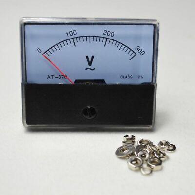 0-300v Meter Analog Voltmeter Panel Volt Factory Ac Outlet Voltage New