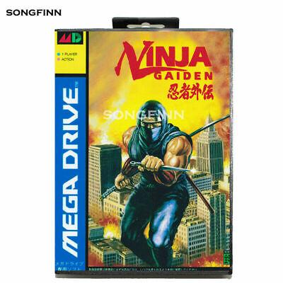 Ninja Gaiden Sega Mega Drive Game Cartridge with Box