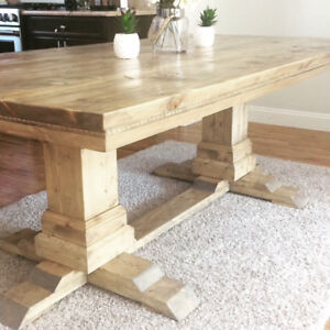 Stunning custom pedistal dining table
