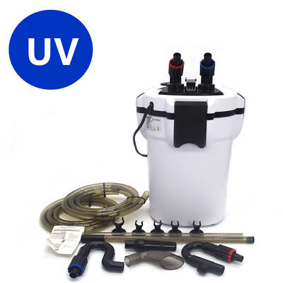 Aquarium External Canister Filter Fish Tank UV Light + Filter Media 220V 700L/H