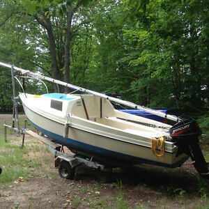 DC 16 Foot Sailboat with Motor & Trailer