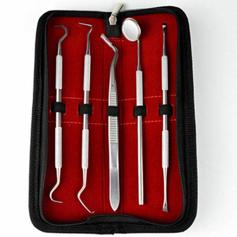 1 Set 5er Zahnarzt Instrumente Zahnpflege Zahnsonde Zahnreinigung Dental Set