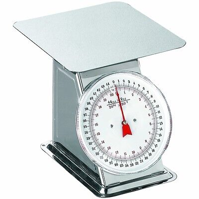Weston Stainless Steel Flat Top Scale 44 lbs Capacity 24-0302 Dial Scale New