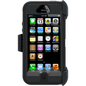 Iphone 5/5s Defender Case with Holster - Black