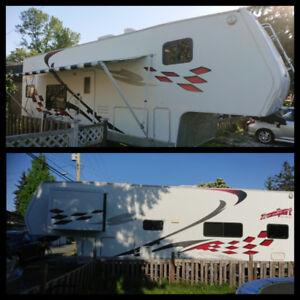 2006 Thor Tahoe fifth wheel toy hauler Transport 34 feet