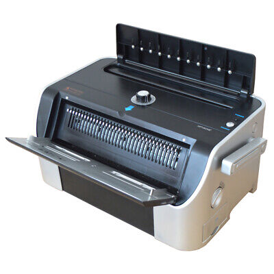 Electric Wire Coil Spiral Binding Machine Book Spiral Inserter Puncher Tender