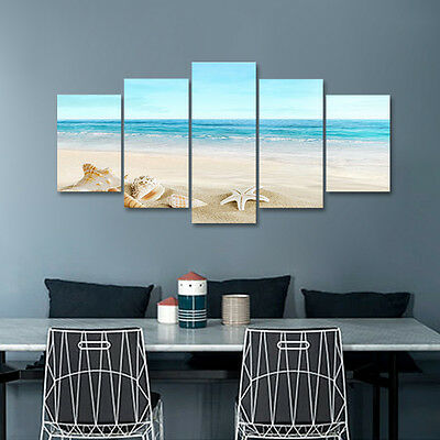 Canvas Print Pic Painting Photo Home Decor Wall Art Large Seascape Beach Framed