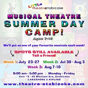 Musical Theatre Summer Day Camp