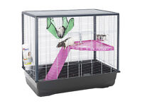 Savic Zeno 2 Cage for Rats, etc (80 x 50 x 70 cm) inc. water bottle, hammock, platform & ladder