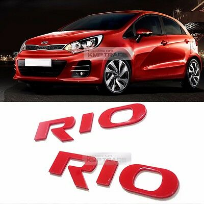Side Front Trunk Mini Emblem Point Logo Badge Red for KIA 2012 - 2016 Rio Pride