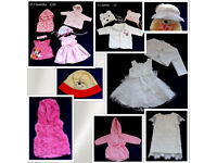 various bundles and sizes 0-3-6-9-12-18 christening dress hat top jacket girl from £3