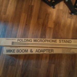 Brand New Folding Microphone Stand and Mike Boom & Adapter