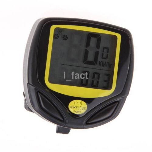 Cycling Bicycle Waterproof Wireless Computer KM/Mileage Speedometer Stopwatch US