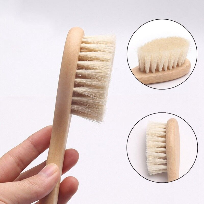Details about Newborn Baby Brush Wooden Hairbrush Natural Hair Brush Soft  Bristles New UK