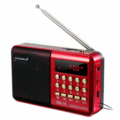 Mini Tragbares Radio LCD Digital FM USB TF MP3-Player Lautsprecher DE