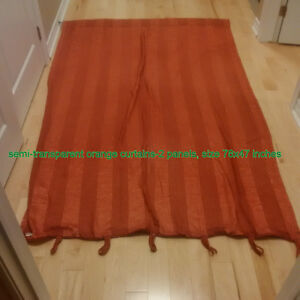 Curtains black out and 1 semi transparent Kitchener / Waterloo Kitchener Area image 3