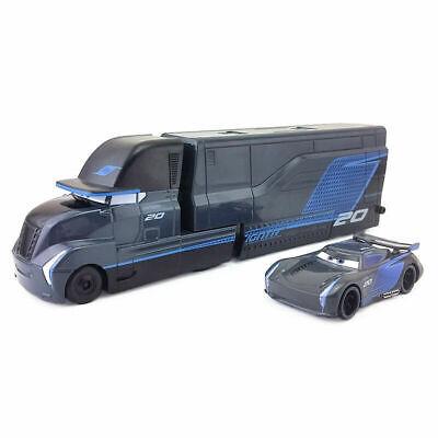 Car Movie Cars - Pixar Movie Cars 3 Diecast Jackson Storm With Truck 1:55 Loose Toy Car Gift
