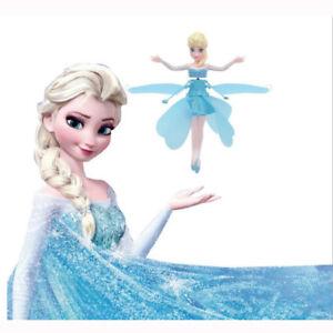 Flying Fairy Magic Elsa Doll Infrared Induction Control Dolls Girls' Gift