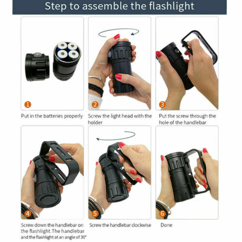 как выглядит Super Bright Scuba Diving Flashlight LED Photography Video Light Underwater 200m фото