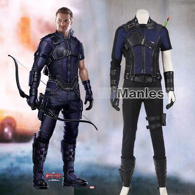 Captain America 2 Civil War Cosplay Hawkeye Clinton Barton Costume Halloween  - Captain America Costume Cosplay