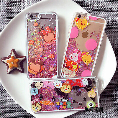 Cute cartoon Disney minnie Liquid Glitter case cover for apple iphone 7 6S plus