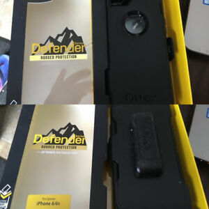 Black defender Otterbox case 6/6s