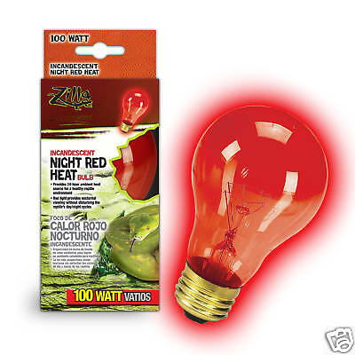 Zilla 100 Watt Red Reptile Night Light Red Heat Lamp Bulb 100 (100 Watt Reptile Night Light)
