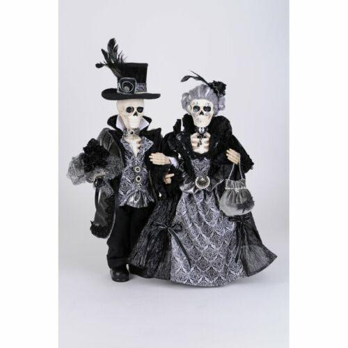 """Skeleton Couple Figurine Set of 2 Statues 21"""""""