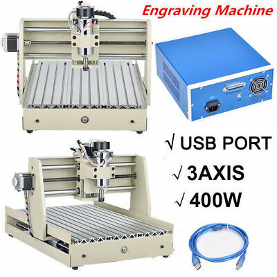 400w 3 Axis 3040 Usb Cnc Router Engraver Cutting Engraving Machine Woodworking