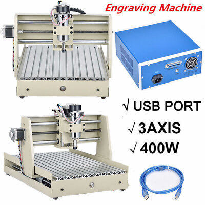 Usb 3040 Cnc Router Engraver 3 Axis Engraving Drilling Milling Crving Machine