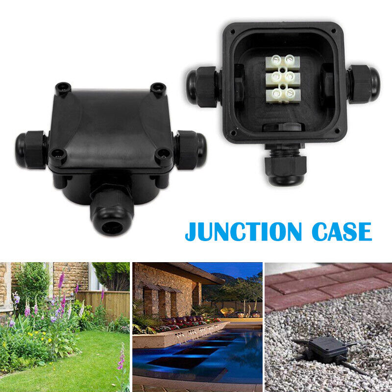 3 Way Plastic Waterproof Electrical Junction Box Cable Wire Connector Ip68