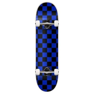 Cal 7 Checker Blue Complete Popsicle Skateboard,8 Inch, Gifts for Skateboarder