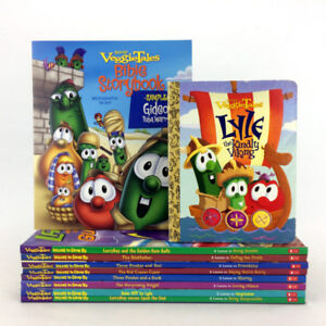 Lot 10 Veggie Tales Books Christian Values To Grow By Religious