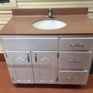 Vanity - real wood cabinet, countertop & sink