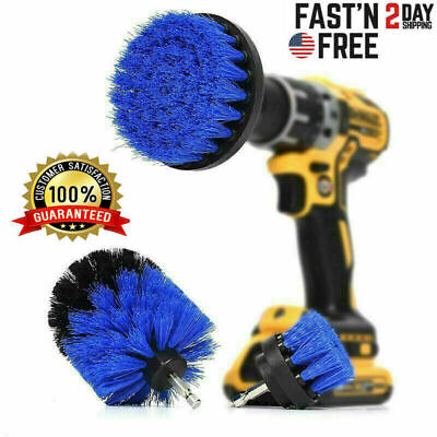 3pc Set Cleaning Drill Brush Kit Carpet Tile Power Scrubber Cleaner Attachment