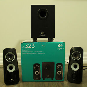 Logitech Speaker System Z323 with Subwoofer Excellent Condition