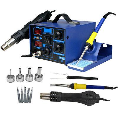 862d 2in1 Smd Soldering Iron Hot Air Rework Station Desoldering Repair 110v