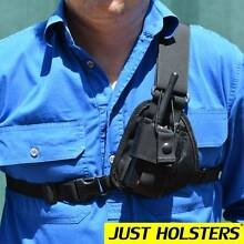UHF GPS 2 way Radio Chest Harness Holster - Stockman. North Ward Townsville City Preview