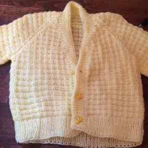 Hand Knit / Hand made Baby Sweaters Cambridge Kitchener Area image 3