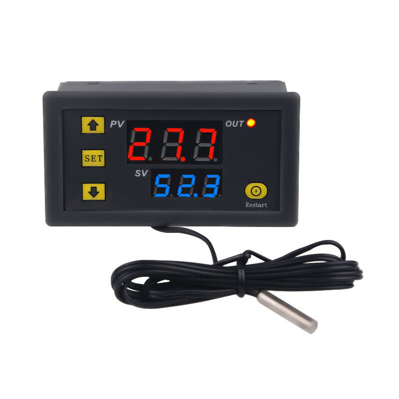 Digital Thermostat Temperature Alarm Controller Thermometer Temp Regulator New