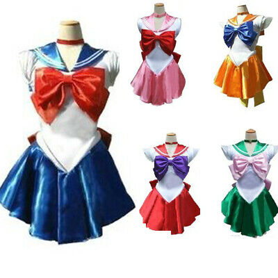 Sailor Moon Dress Cosplay Outfit Costume Fancy Dress Up Halloween Anime Jupiter
