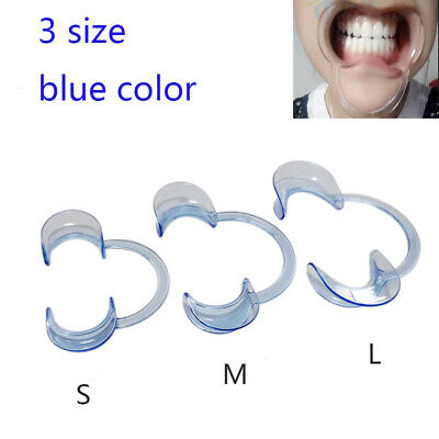 Dental Mouth Opener Teeth Cheek Retractor Tooth Intraoral Lip C Type S M L Blue