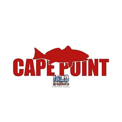 Cape Point Red Drum Sticker Fishing Sportsman Car Truck Windows Fisherman