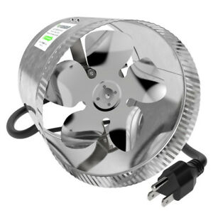 8 inch Inline Duct Booster Fan and 25-Feet Non-Insulated Air Duc